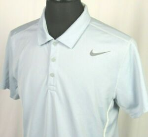 Men's Nike Tennis Dri Fit Short Sleeved 100% Polyester Polo Golf Shirt Large $0.99