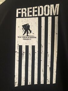 Under Armour Wounded Warrior Project Shirt Black T shirt Mens 2XL $12.00