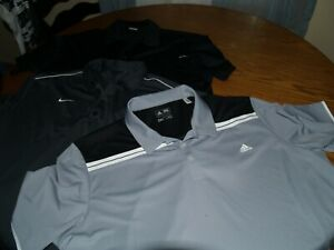 LOT OF 3 MENS NIKE NIKE GOLF ADIDAS POLYESTER POLO SHIRTS SZ XXL S S DRI FIT $14.50
