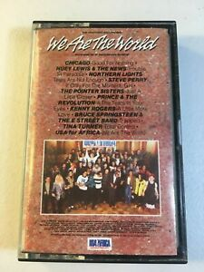 We are the World USA for Africa Michael Jackson Lionel Richie Cassette Tape