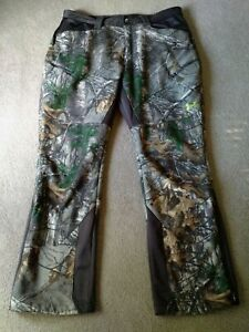 Mens Under Armour Storm 1 Stealth Scent Control Realtree Camo Pants 38 32 $74.99