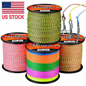 300M Power PE Spectra Braided Fishing Line 4 Strands Premium Stealthy 6LB 100LB