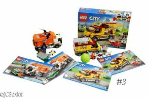 LEGO CITY BUILD KITS 60118 trash garbage 60150 PIZZA TRUCK