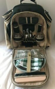 Concept International Picnic Wine Backpack Insulated Picnic Set for 2