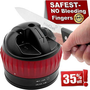 Knife Sharpener with Non-Slip Suction Cup Professional Kitchen Knife Sharpening