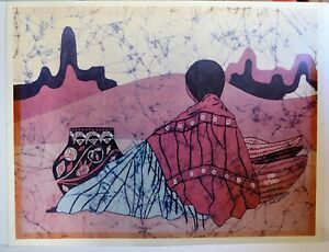 GOLDFARB VINTAGE LITHOGRAPH SIGNED NUMBERED SOUTHWEST NATIVE AMERICAN $99.00