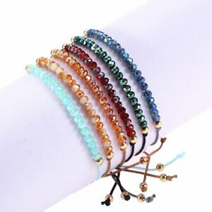 Charm Crystal Hand woven Adjustable Women Lucky Bracelet Bangle Jewelry Gifts $1.03