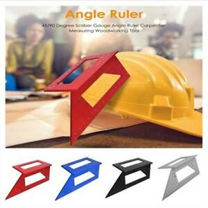 Multifunctional Square 45 90 Degree Gauge Angle Ruler Measuring Tool $10.71