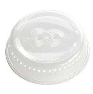 Microwave Cover food Splatter Plate New Clear Gray Plastic for Kitchen BPA Free