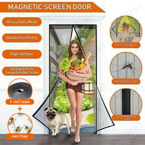 Magnetic Door Net Hands Free Mosquito Screen Mesh Anti Bugs Fly Insect Curtain