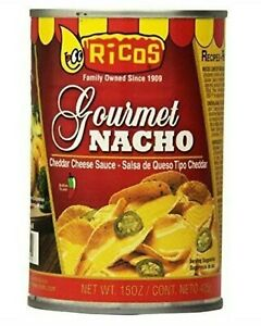 Ricos Gourmet Nacho Cheese Sauce 100% Real Cheddar Sauce 15 Oz Each Can