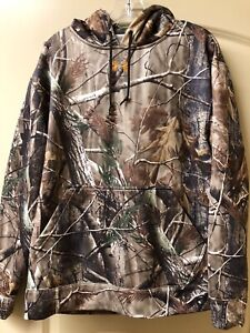 UNDER ARMOUR REALTREE AP STORM 1 Fleece Hoodie Mens M pullover camo hunting duck $39.99