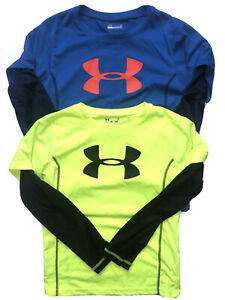 Used Boys Lot Of 2 Under Armour Long Sleeve Shirts Size 7 Loose Fit Read Descrip $11.50