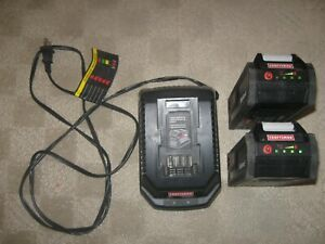 Craftsman Die Hard 40 Volt Lithium Battery Lot of 2 Plus Charger 29081 29141 $140.00