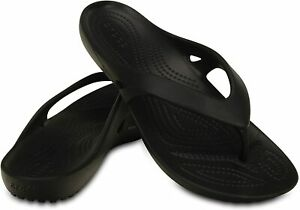 Women Crocs Kadee II Flip Flop Sandal 202492 001 Black 100% Authentic Brand New
