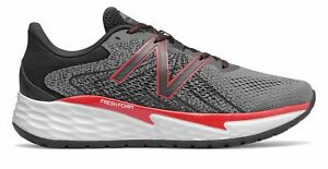 New Balance Men#x27;s Fresh Foam Evare Shoes Grey with Red