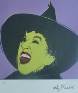 ANDY WARHOL WITCH SIGNED & HAND NUMBERED 36475000 LIMITED EDITION LITHOGRAPH $198.00