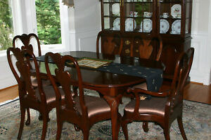 Harden Cherry wood dining room set with 6 chairs, 2 - 12