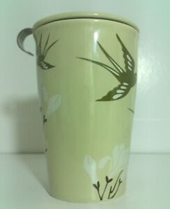 Tea Forte KATI Birdsong Tea Infuser Cup Brewing System Ceramic With Basket