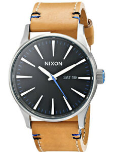 Nixon Men's The Sentry Leather strap watch A105 42mm