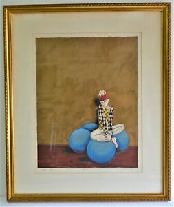 LEA LEVIN ORIGINAL LITHOGRAPH SIGNED NUMBERED ARLEQUIN LISTED ISRAELI ARTIST  $120.00