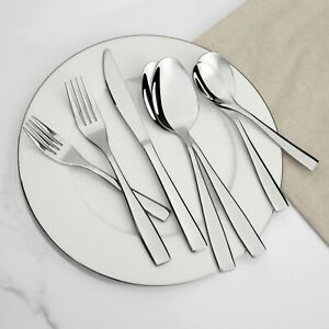 NEW Lorena Flatware Barrister - Heavy Forged 42pc Silverware Serving Set for 8