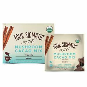 Four Sigmatic Organic Mushroom Hot Cacao with Reishi - As Seen On GOOP -10 Pack