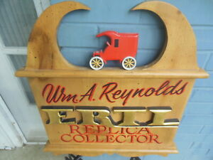 ERTL Toys Wooden Replica Collector Sign Handmade Carved wood $14.00