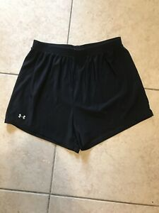 UNDER ARMOUR Womens Fitted Black Spandex Running Shorts Size: Medium $1.00