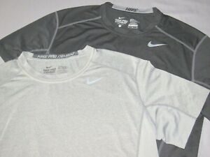 Lot of 2 Nike Pro Combat Dri Fit Stretch Athletic T Shirts Men's Fitted Medium $0.99