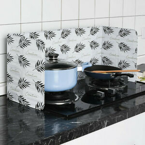Home Kitchen Stove Foil Plate Prevent Oil Splash Screen Cooking Hot Baffle Tool