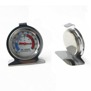 1pcs Refrigerator / Freezer Dial Type Stainless Steel Thermometer Hang Stand US