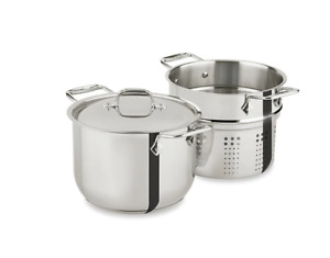 All-Clad Stainless Steel 6-Quart Pasta Pot with Insert