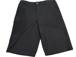 Boys Under Armour Golf Shorts Black Size YOUTH Large NWOT $15.00