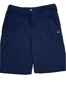 Boys Under Armour YOUTH XL Golf Style Shorts Blue NWOT $15.01