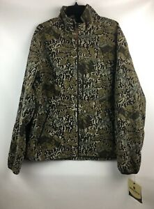 New NWT Woolrich Andes Camo Camouflage Hunting Fleece Jacket Mens XL