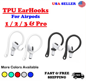 For AirPods 1 2 Pro TPU Silicone Ear Hooks AirPods Multicolor USA SELLER $5.64