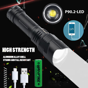 Most Bright XHP90 LED Flashlight 26650 USB Rechargeable Zoom Torch Light XHP50 $24.69