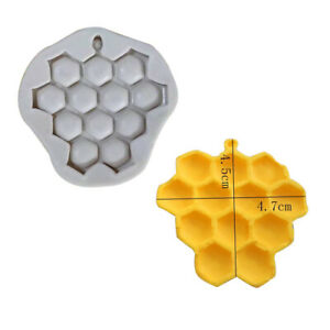 1 x Honeycomb Bee Silicone Sugar Craft Icing Fondant Cake Mold Decor Baking Tool
