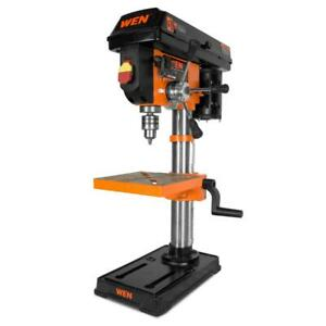 drill press with laser cast iron guide base bench power chuck speed wen 10 in.