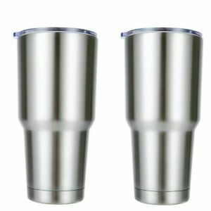 2pcs Travel Mug 30oz Stainless Steel Tumbler Double Vacuum Insulated Coffee Cup
