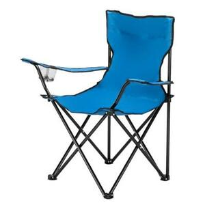 Outdoor Camping Chairs Portable Folding Chair Small 80x50x50 Carrying Bag Blue