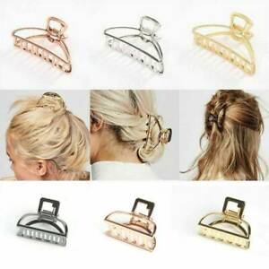 Large Metal Claw Clips Hollow Non slip Hair Catch Jaw Clamp for Women Girls Hair $5.29