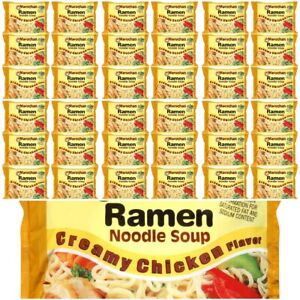 Maruchan Creamy Chicken Instant Ramen Noodle Soup Fast Preparation 24 Packs $8.59