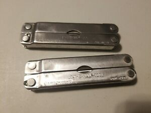 Lot of 2 USED Vintage Leatherman Tool US reg.TM 1325473 Portland OR DAMAGED