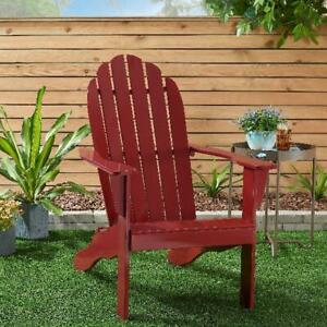 Mainstays All weather Indoor Outdoor Patio Garden Lawn Adirondack Chair Red New
