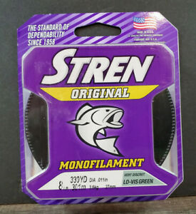 Stren Original Monofilament 8lb. 330yd LOW VIS GREEN Fishing Line Free Shipping