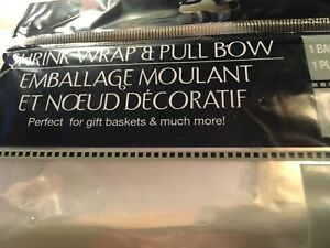 Time to Shrink Wrap Gift Baskets Pull BowClearTwo Bags amp; Bows 24quot; x 30quot;