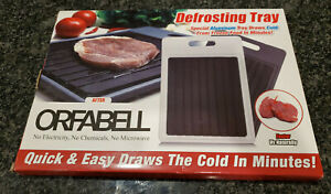 Orfabell Rapid Defrosting Tray Meat Seafood Quick amp; Easy