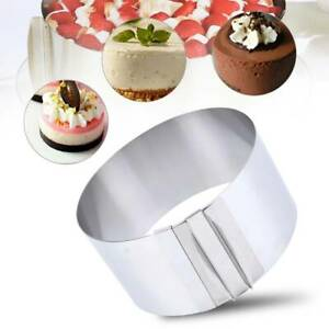 6quot; 12quot; Stainless Steel Adjustable Round Mousse Cake Ring Mold DIY Baking Tool
